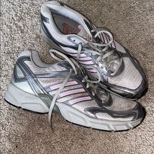 ADIDAS SNEAKERS GRAY AND PINK 7.5